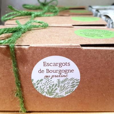 Ballotins de pralinés (lait, noir, mixtes) et escargots de Bourgogne